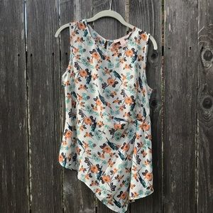 Floral blouse with birds